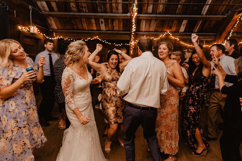 Wedding reception at Camp Wing, Duxbury MA