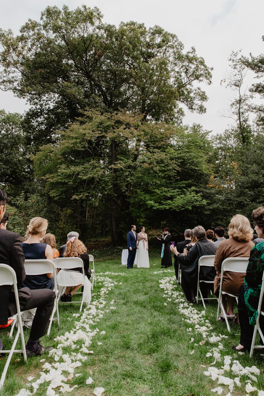Outdoor wedding ceremony at the Dane Estate