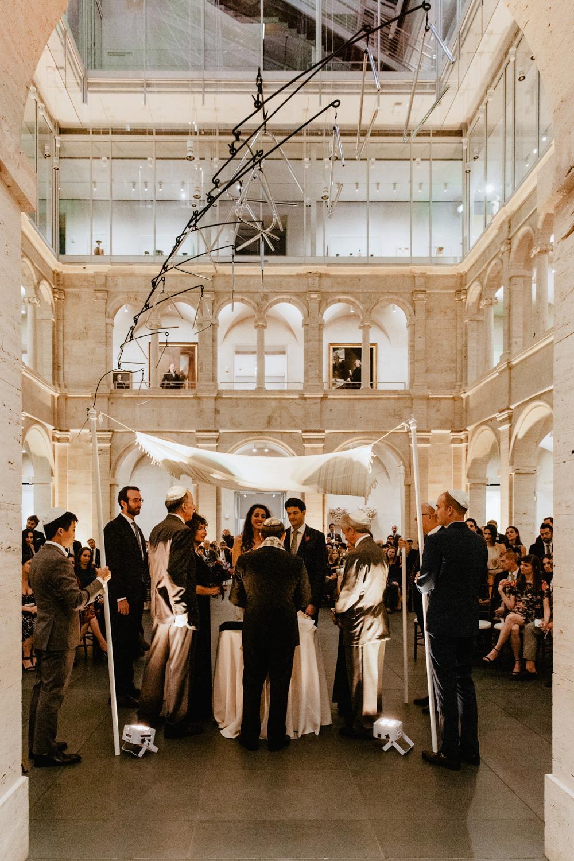 Jewish wedding ceremony at the Harvard Art Museum, Boston