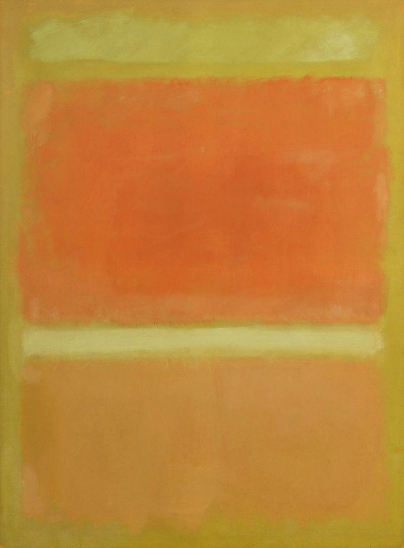 """Untitled (Yellow, Orange, Yellow, Light Orange) 1955"