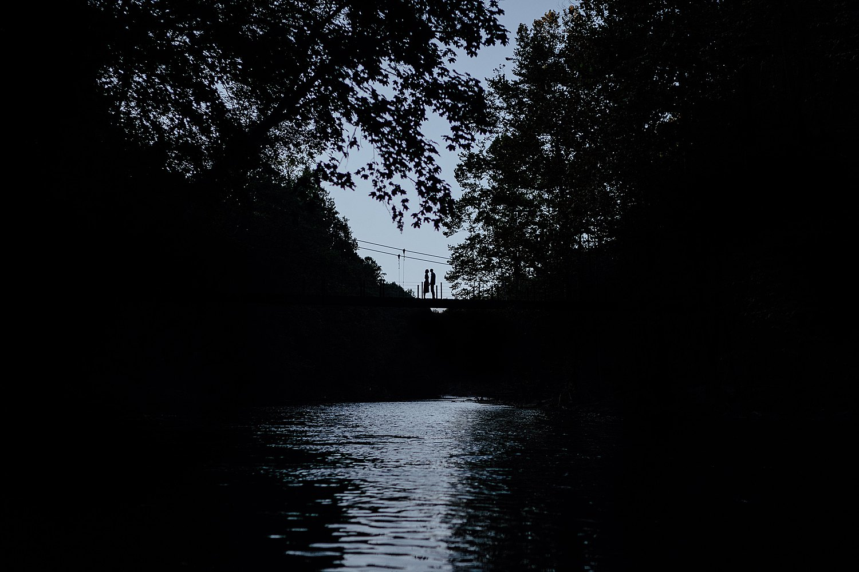 Silhouette shot in Patapsco Valley State Park