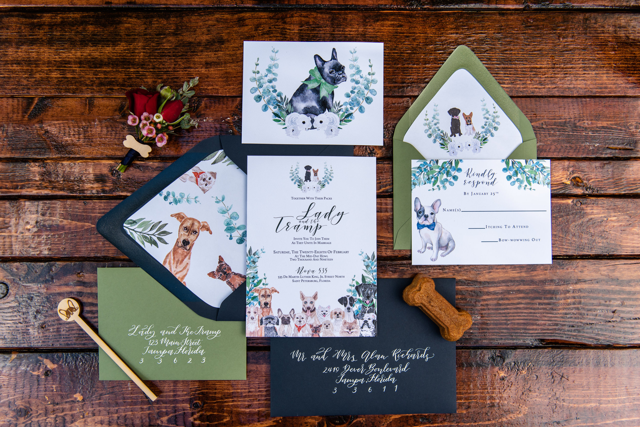 Photo by  Caroline & Evan Photography  at  Nova 535  in St Pete, FL / Invitations by  Sarah Bubarb Designs