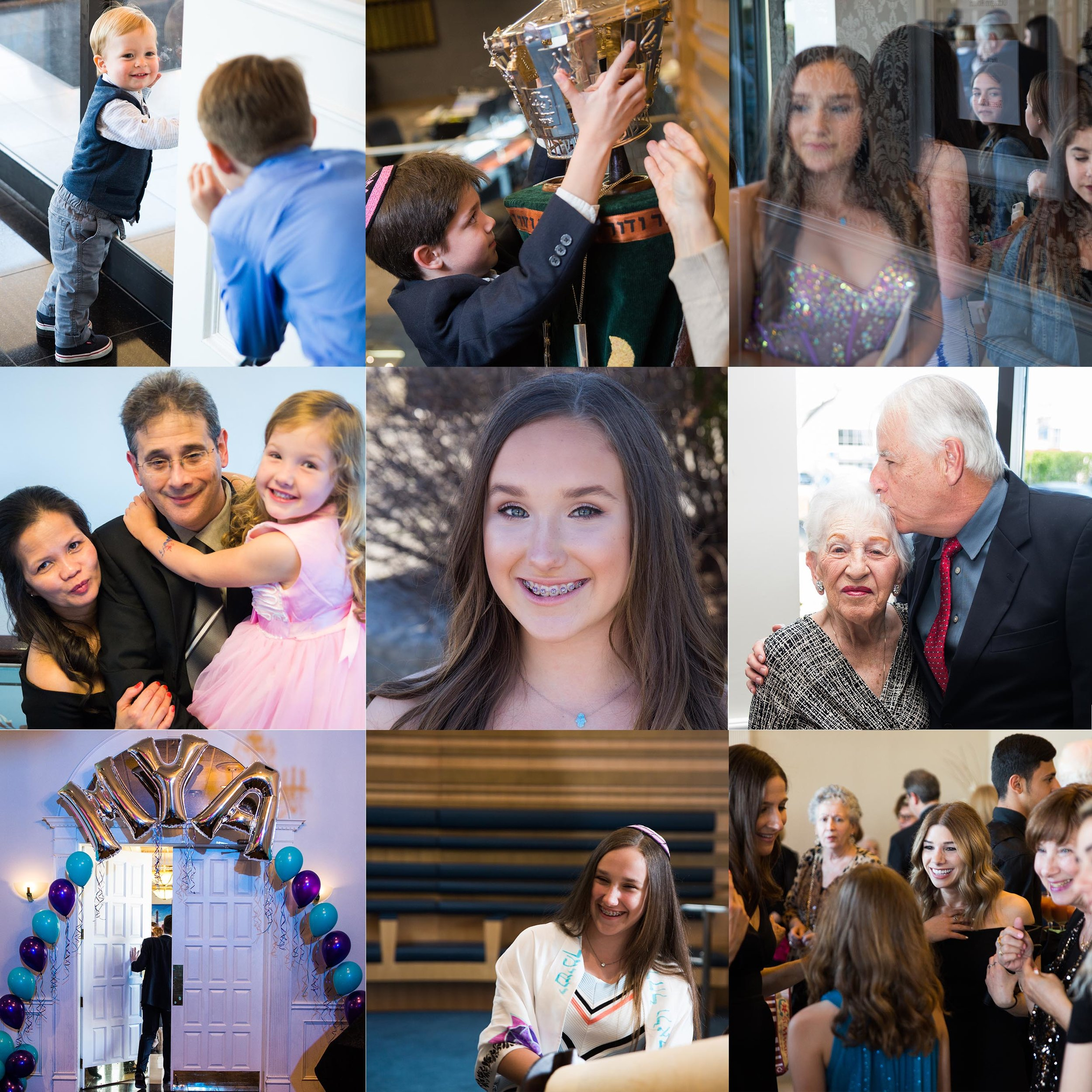 Mya Bat Mitzvah collage (toronto ontario)