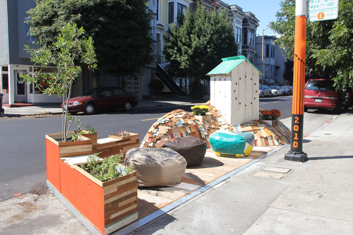 Fabric8 Parklet in San Francisco, CA. Photo by San Francisco Great Streets