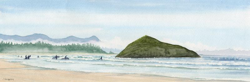 Surfers At Incinerator Rock
