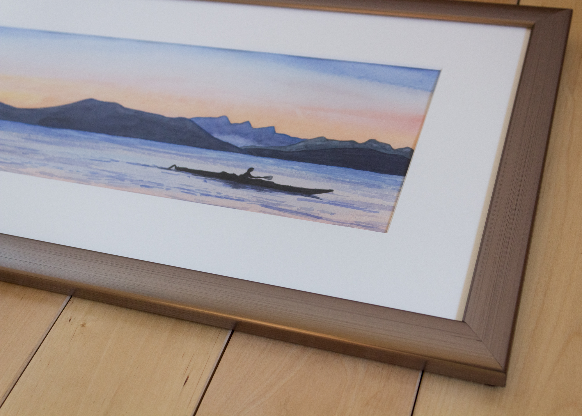 Sunset Kayak - Custom Frame Detail