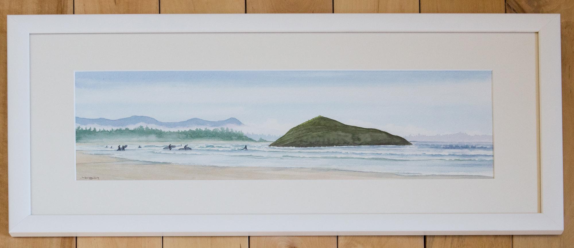 Surfers At Incinerator Rock - Custom Frame