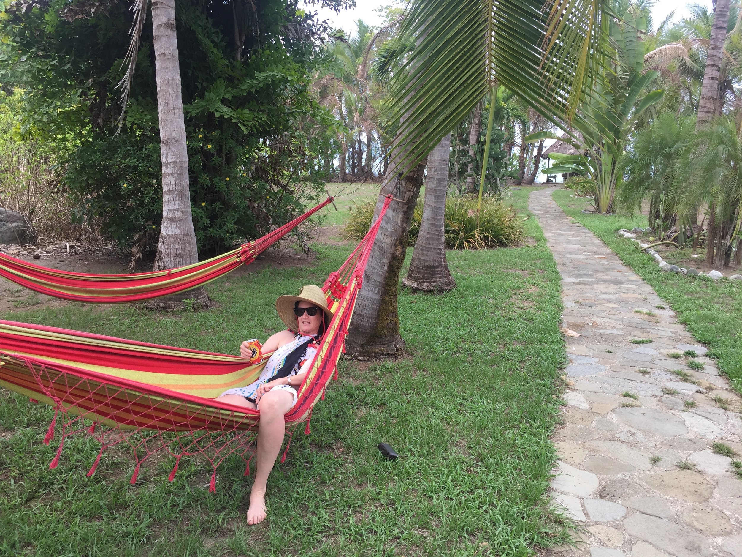 me in hammock behind pool house with a beer (shhhhh)