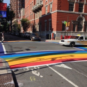 Love our new rainbow crosswalks!
