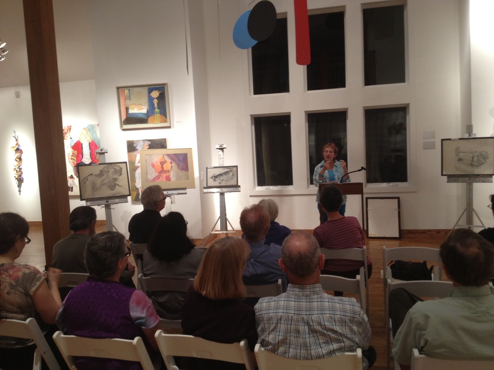 Betti Kahn at the Community Art Center