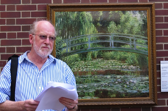"Nick Lutwyche shares a poem inspired by Monet's ""The Japanese Footbridge and Water Lily Pool"""