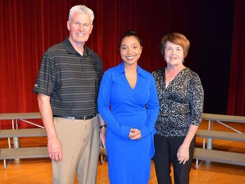 Fred and Judy with 2018 scholarship winner.