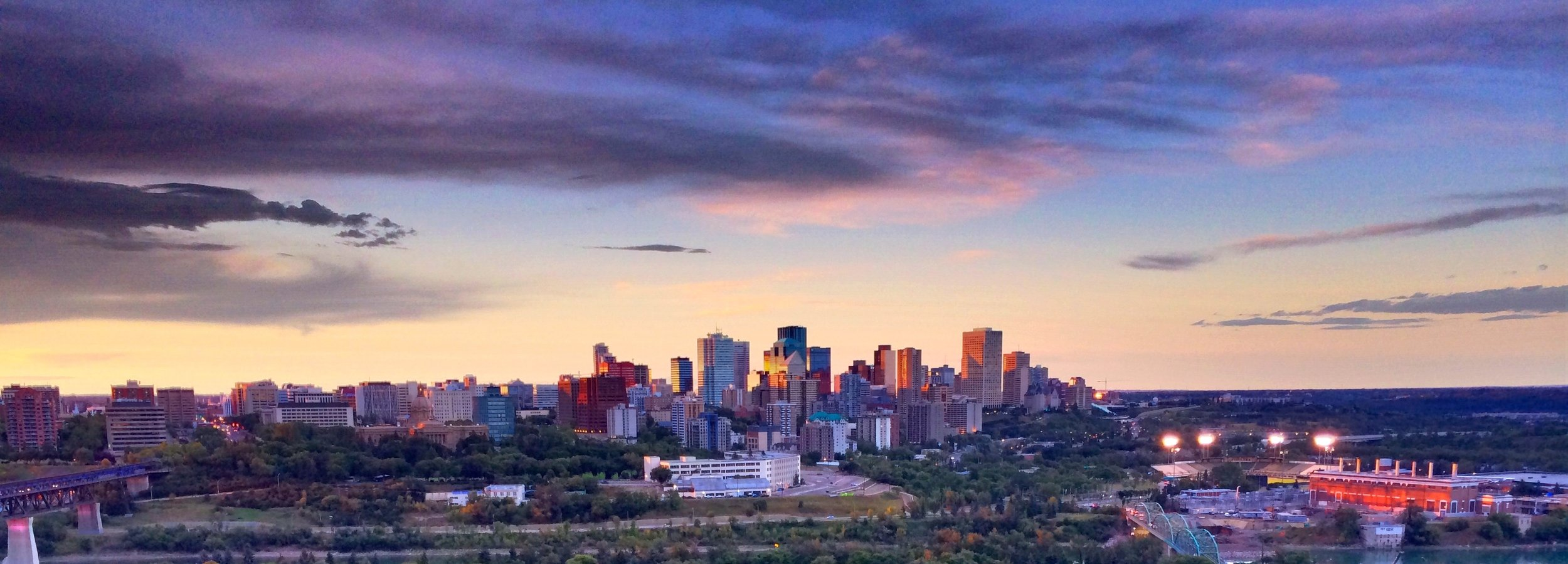 Edmonton, Canada - Skyline Sunset