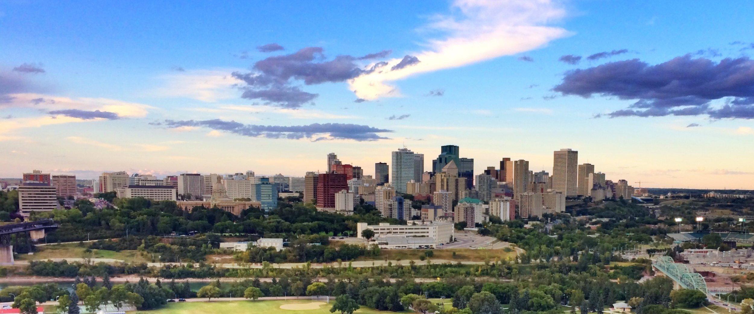 Edmonton, Canada - Skyline Daytime