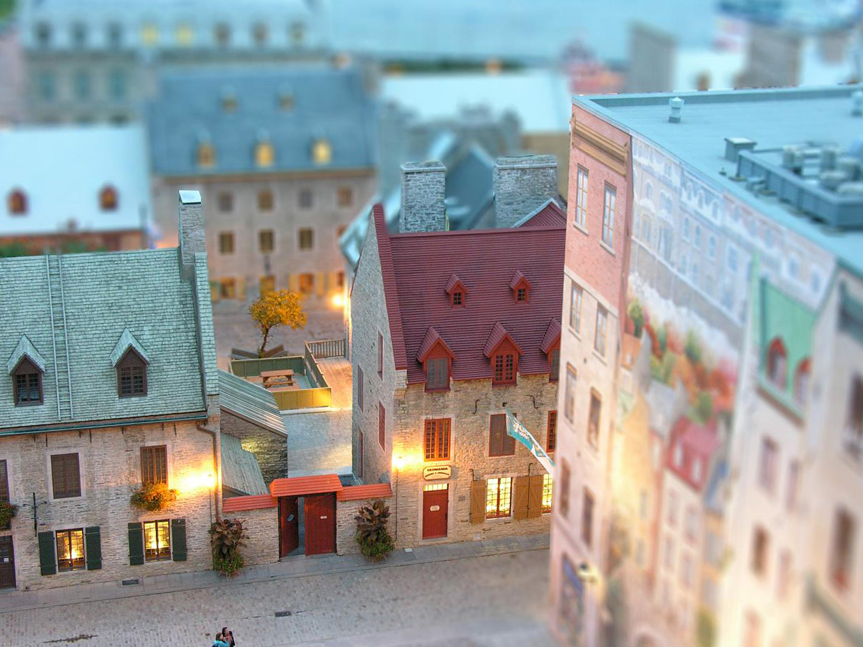 Old Quebec, Quebec City, Canada  (Tilt Shift Effect)