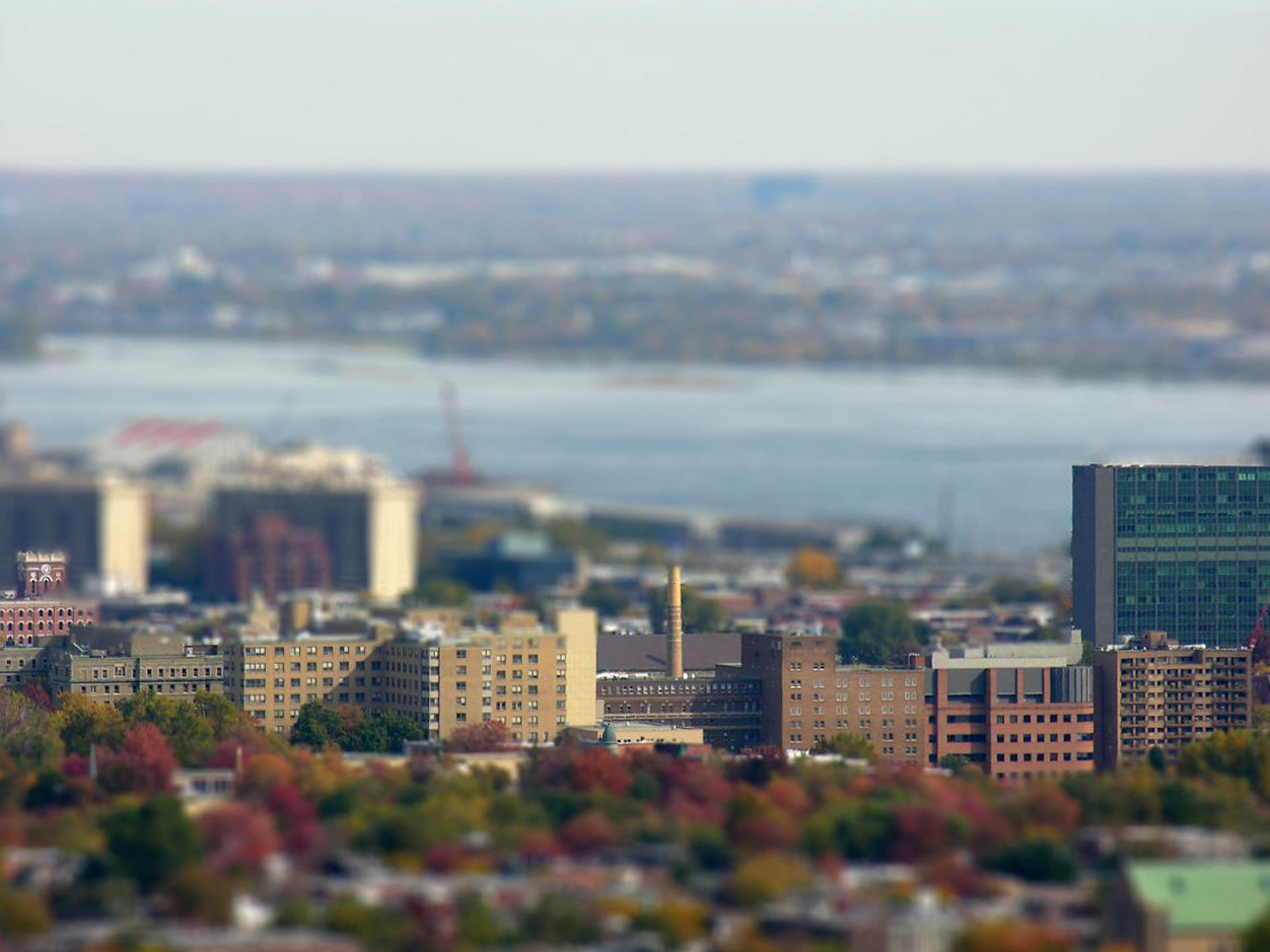 Montreal, Quebec, Canada  (Tilt Shift Effect)