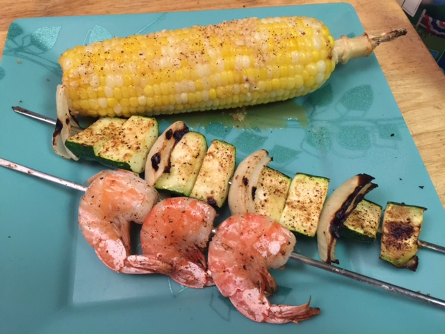 Shrimp Kabobs for dinner