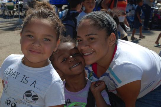 kids enjoying a heaven's windows child nutrition program