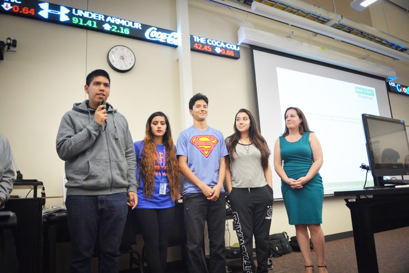 High School students present their san diego hunger coalition benefit project
