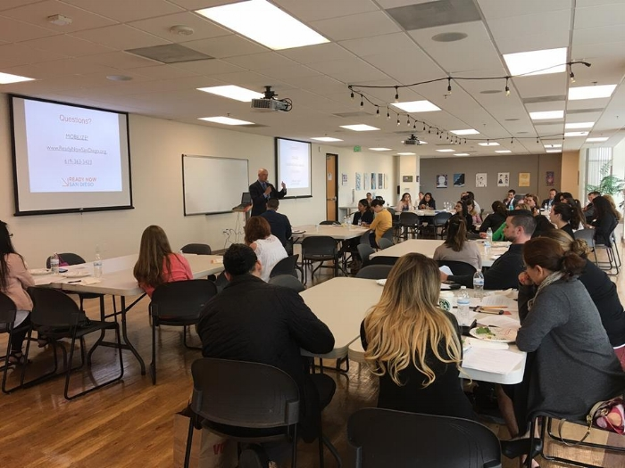 David Loy, Legal Director for the ACLU of San Diego and Imperial Counties presents on the rights of immigrant families and accessing food assistance at the May CalFresh Task Force regional meeting.