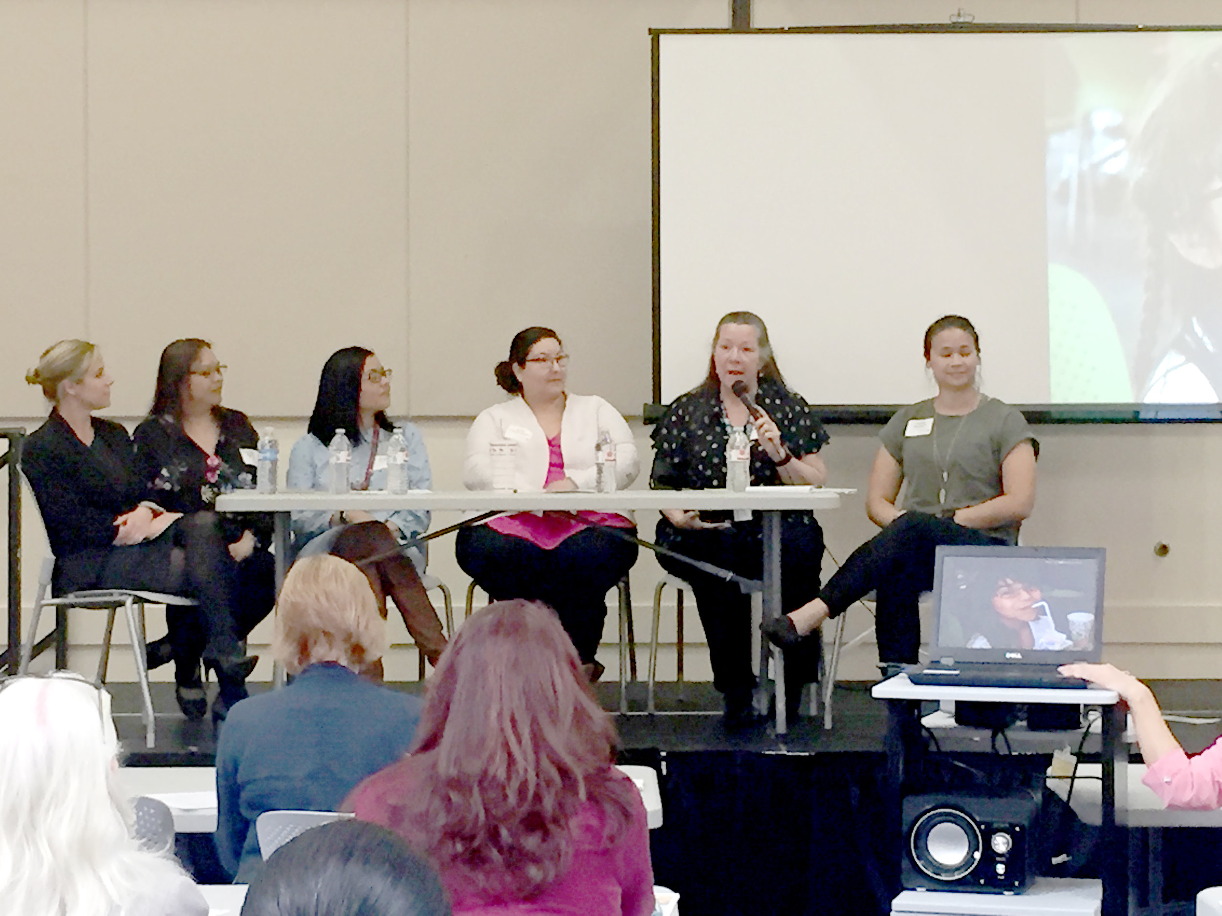 North Panel: (Left to Right) Naomi Shadwell, Brenda Monzon, Orquidia Contreras, Susan Salinas-Ramos, Lisa Ferneau-Haynes, Maddy Moritsch