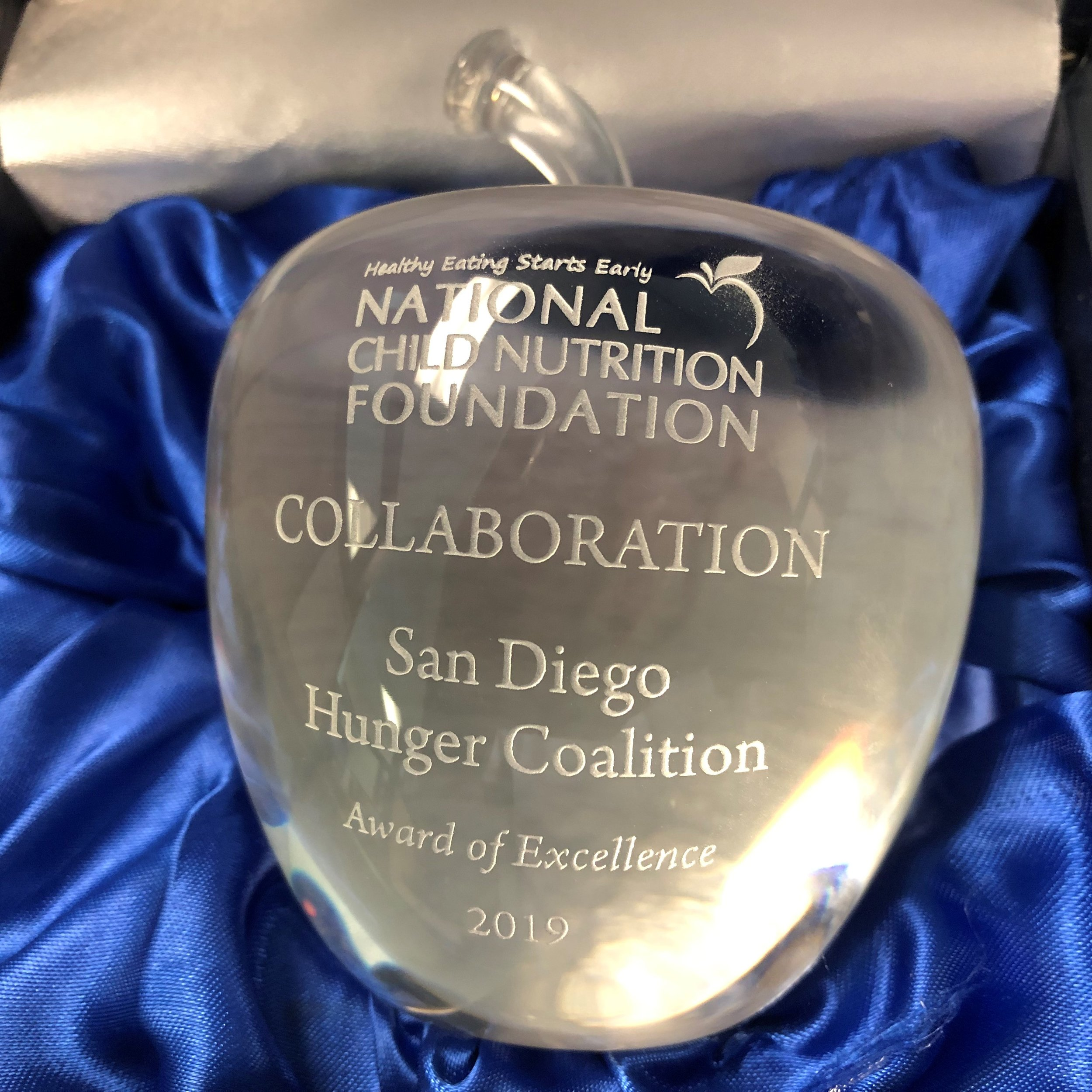 2019 Award of excellence in collaboration