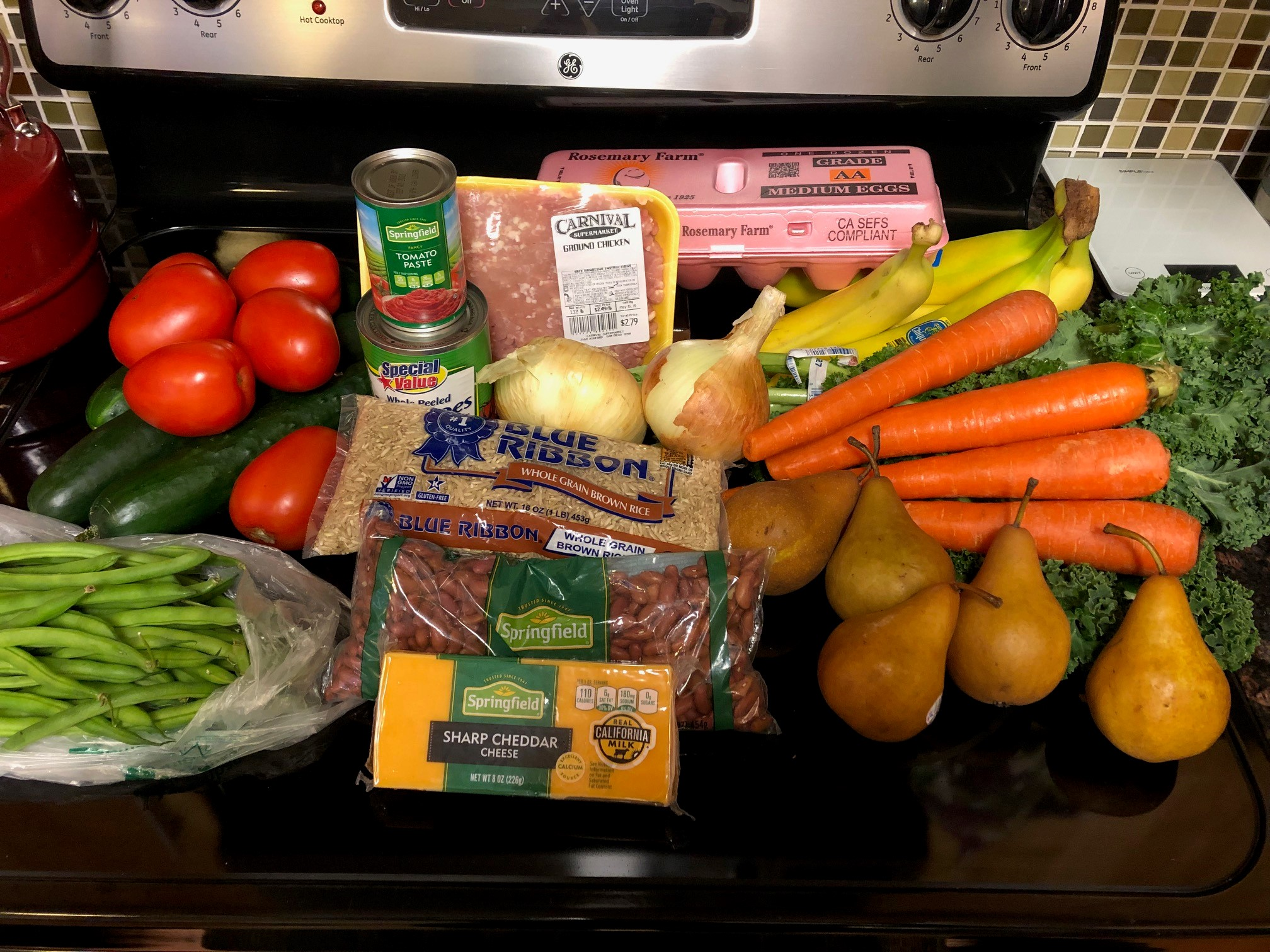 Amanda's shopping trip for the CalFresh Challenge. Amanda has done this challenge for several years and has learned how to shop for healthy and filling food on a limited budget. It's a skill and takes time.