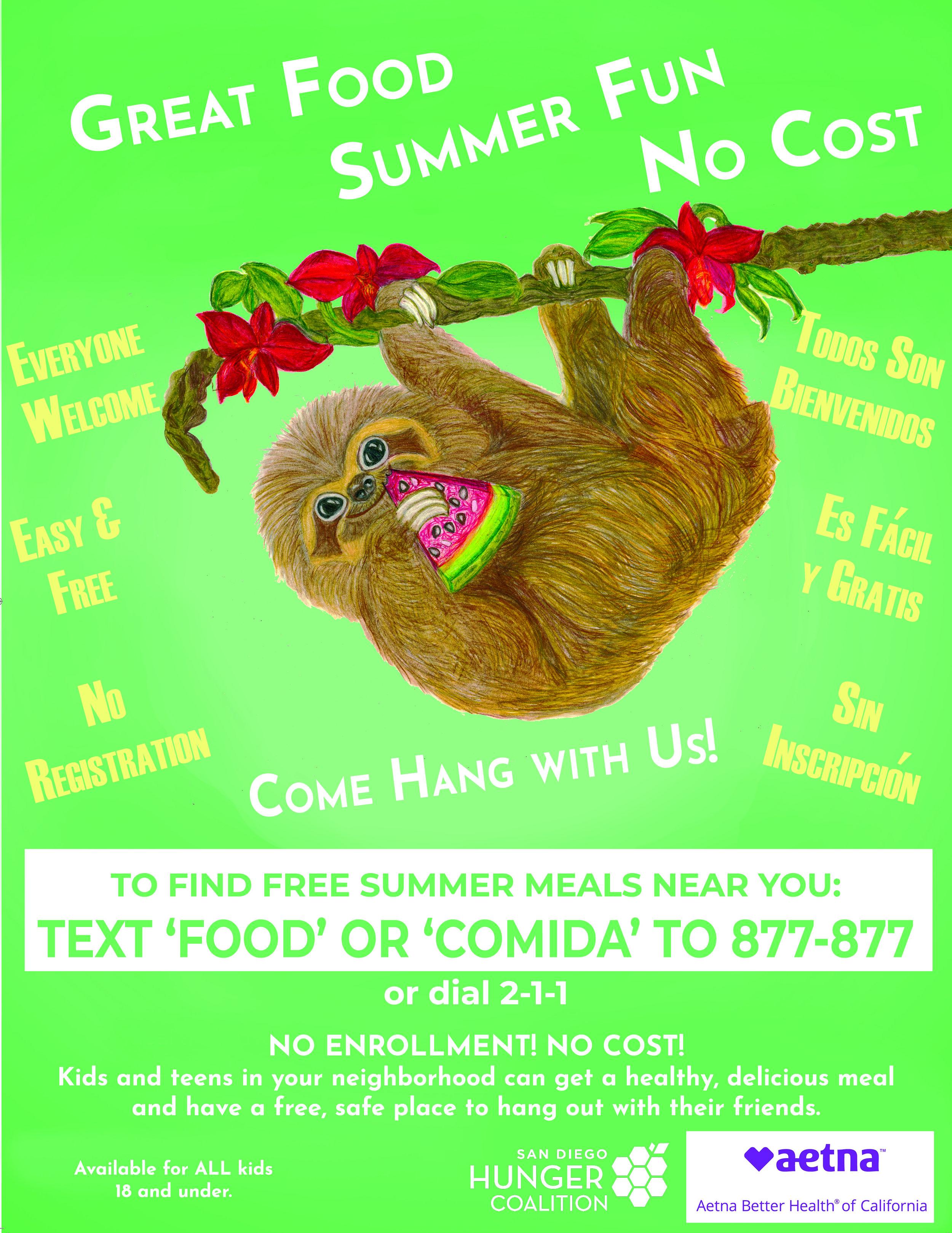 Summer meals front_sloth 20190530.jpg