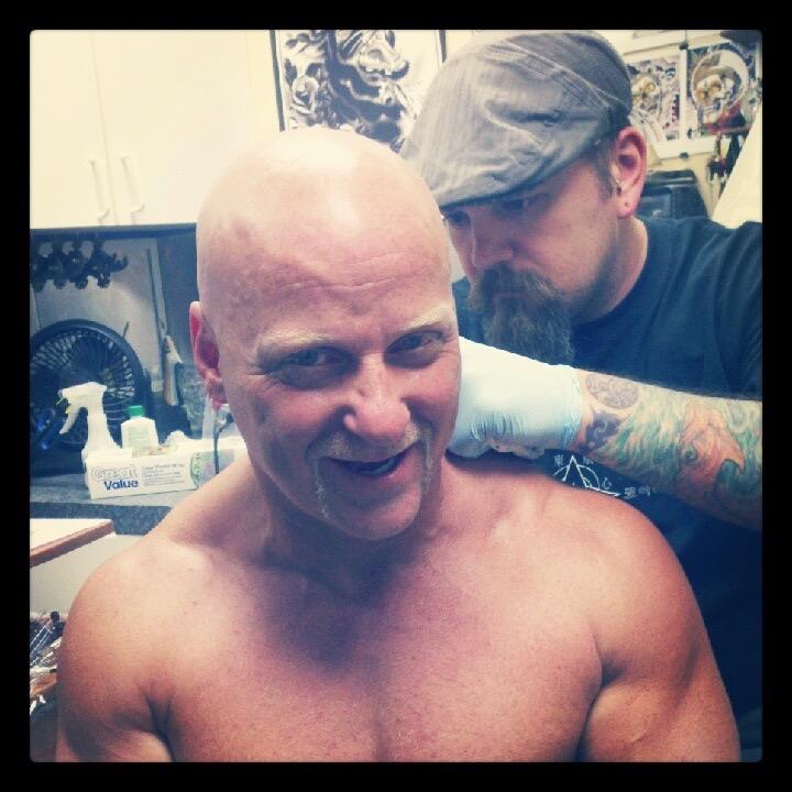 Tony really does look like Hulk Hogan!