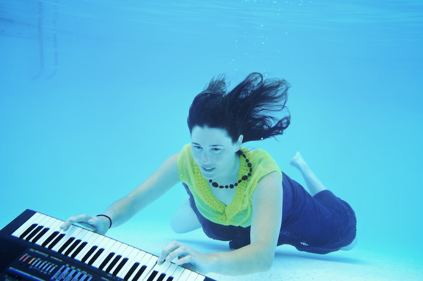 Underwater band promo shoot for Mightychondria