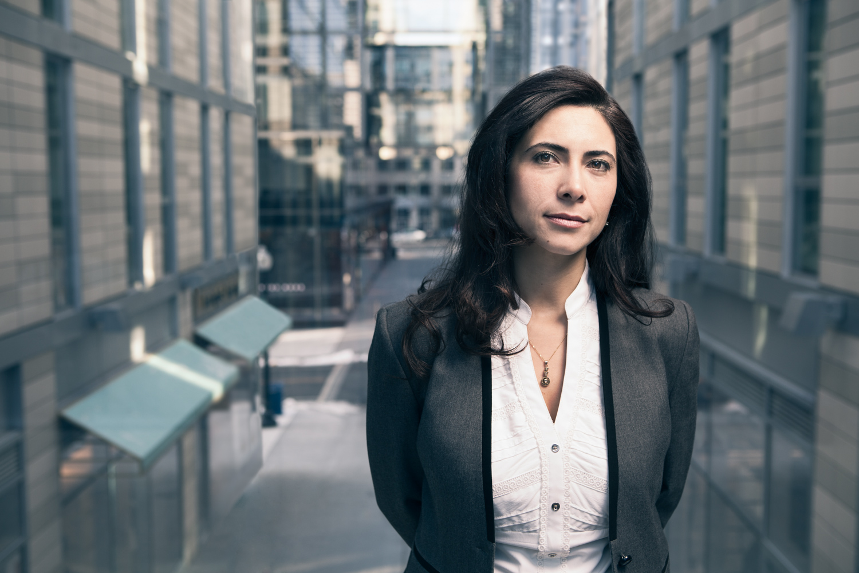 Editorial portrait of Fulya Kocak, Director of Sustainable Solutions, Clark Construction,Washington DC