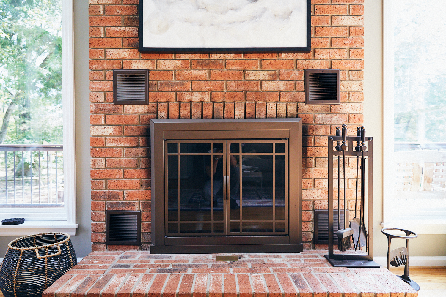 Fireplace works and wood is available if we want to use it.