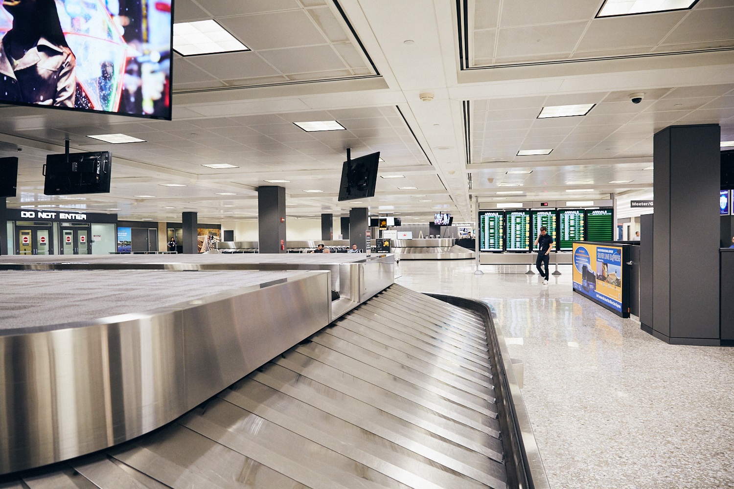 Baggage Claim 6 - United, not use often. Could be a secondary option if baggage claim 10 gets busy.