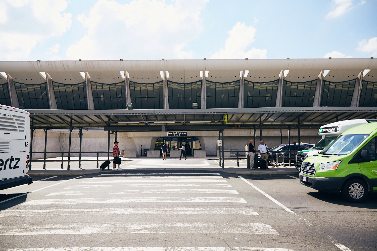 Terminal entrance Door 2 from daily parking