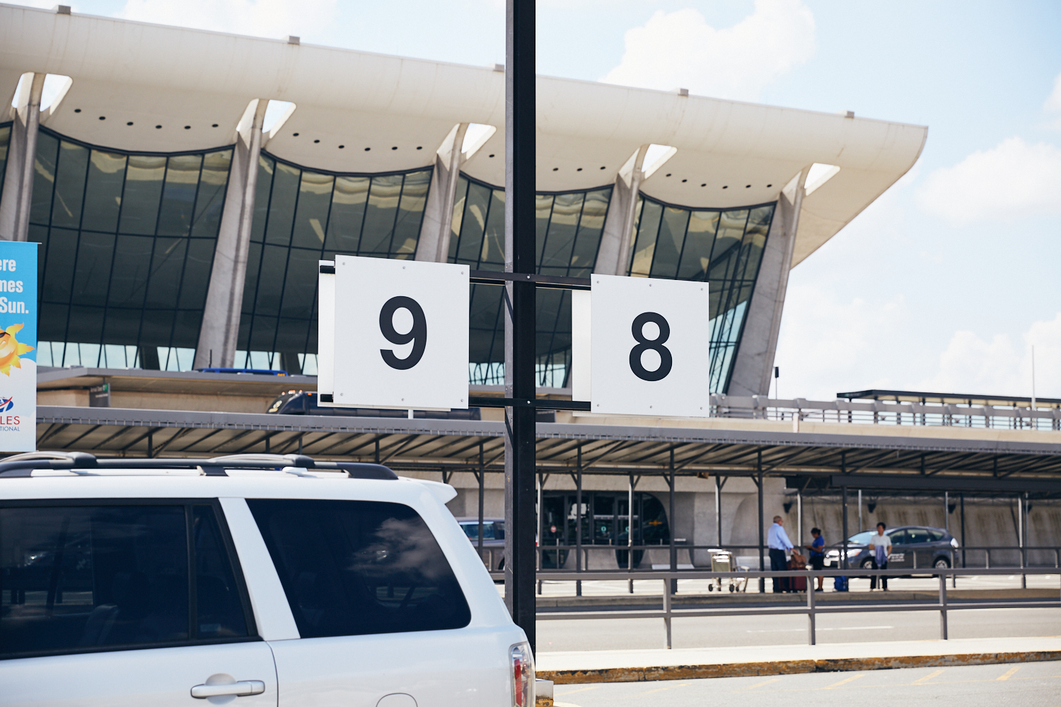 Park in daily parking here and go through door 2. Take a left once in the terminal and we will stage just left of baggage claim 10.