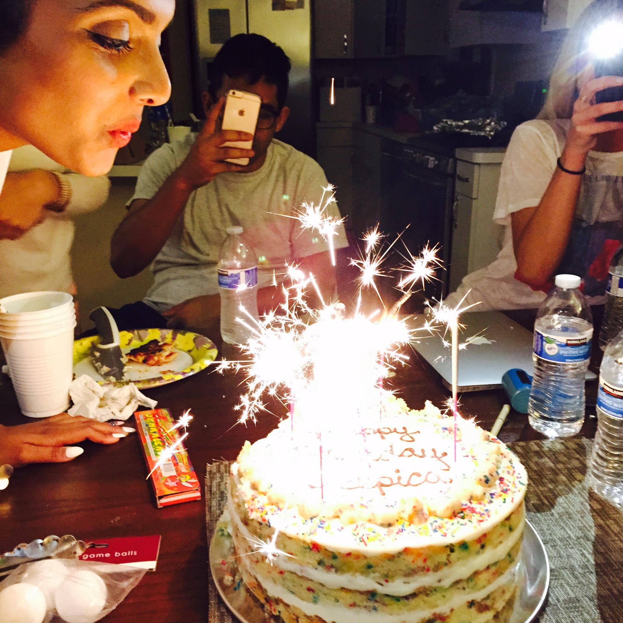 Midnight cake cutting sesh
