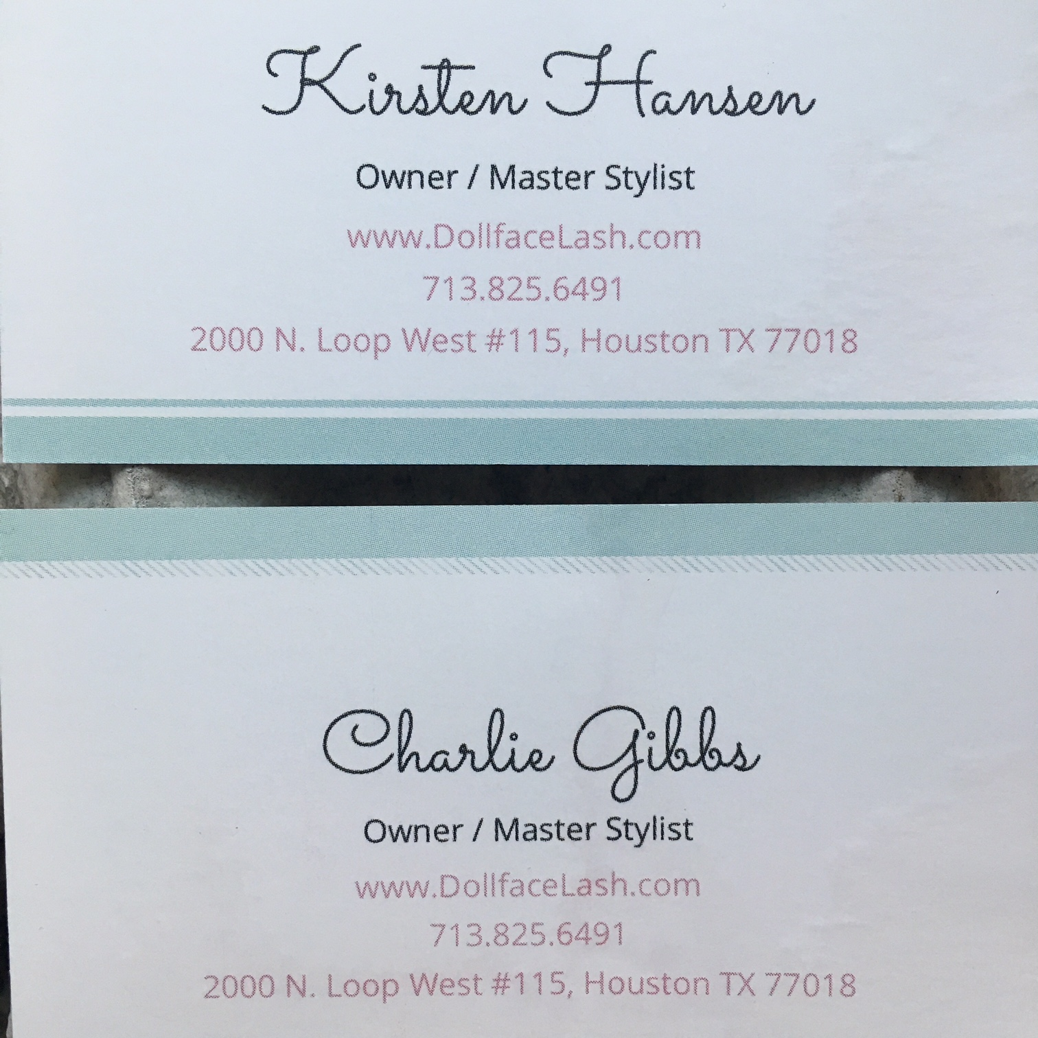 Contact information for Kirsten and her partner Charlie - both are fabulous at what they do! Don't forget to ask for the @deepicam discount ;)