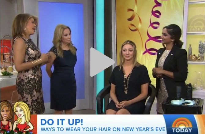 """Click to watch my """"3 Ways to Style Your Hair for NYE"""" segment on the TODAY Show!"""
