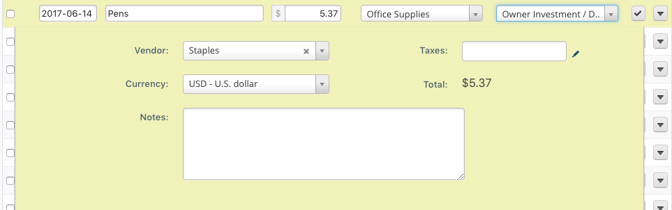 How to add a business expense you bought with your personal money in Wave Accounting.