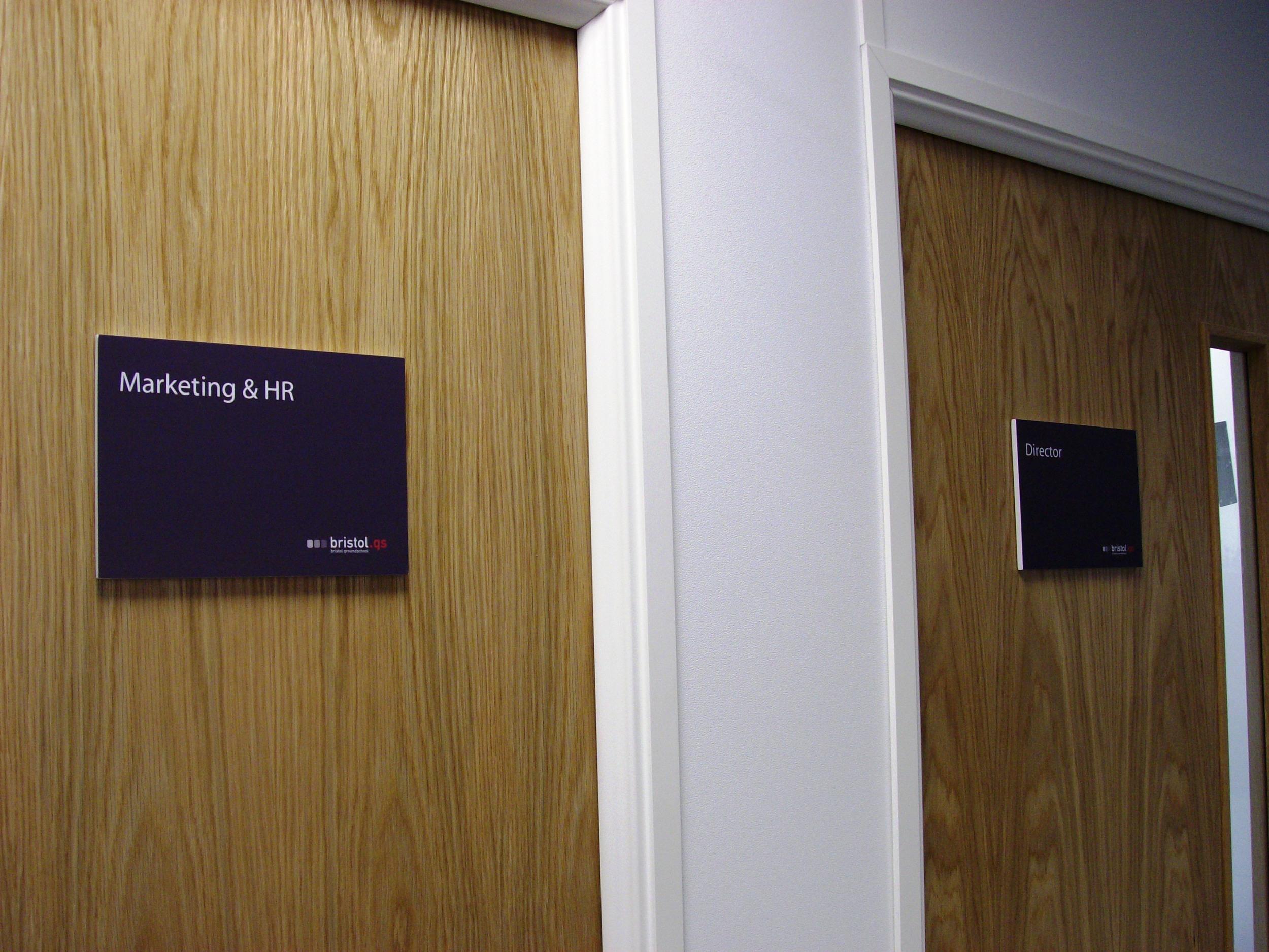Mark A Humphries bristol groundschoool door signs.jpg