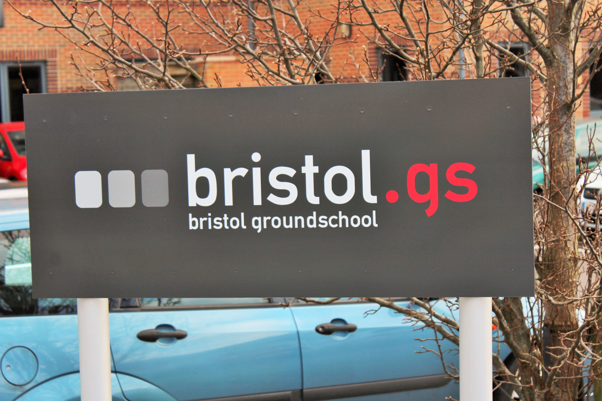 Mark A Humphries bristol groundschool entrance sign.JPG
