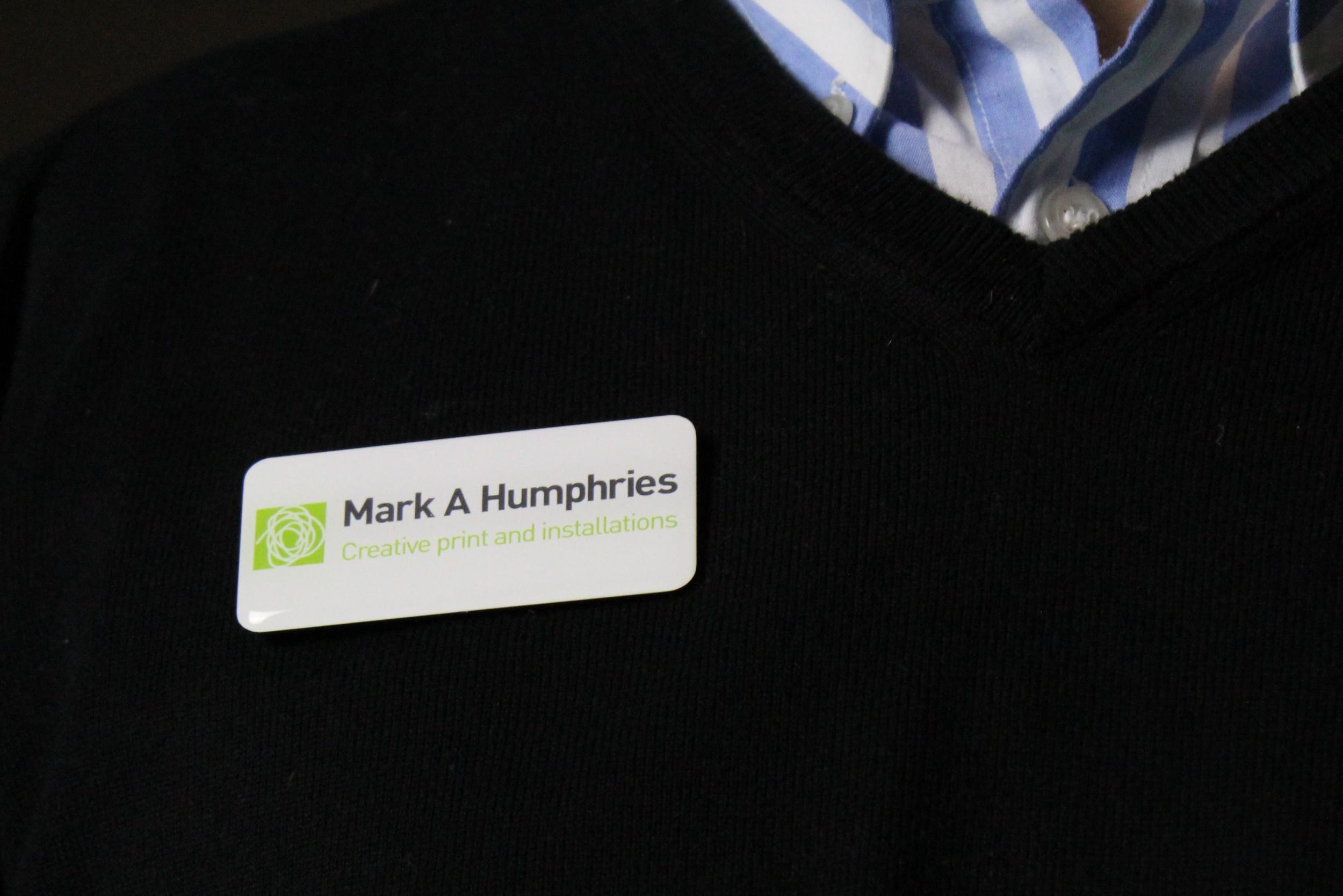 Domed Name Badge