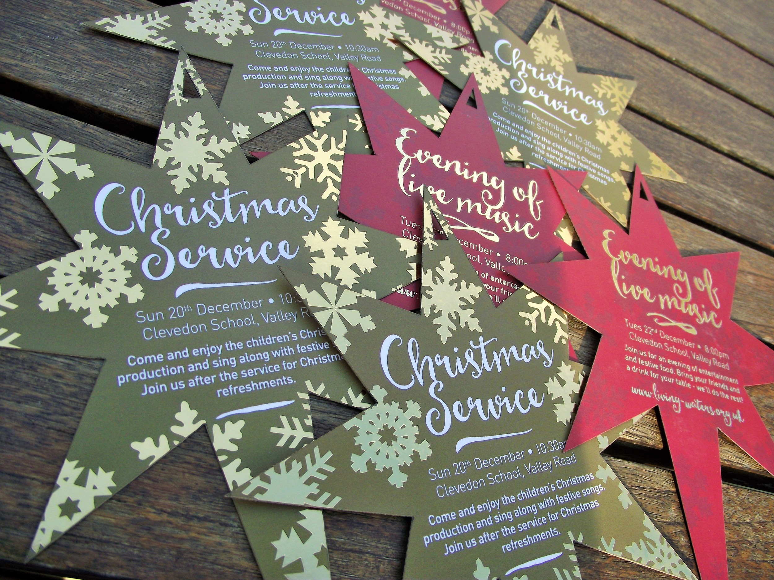 Christmas Service Invitations