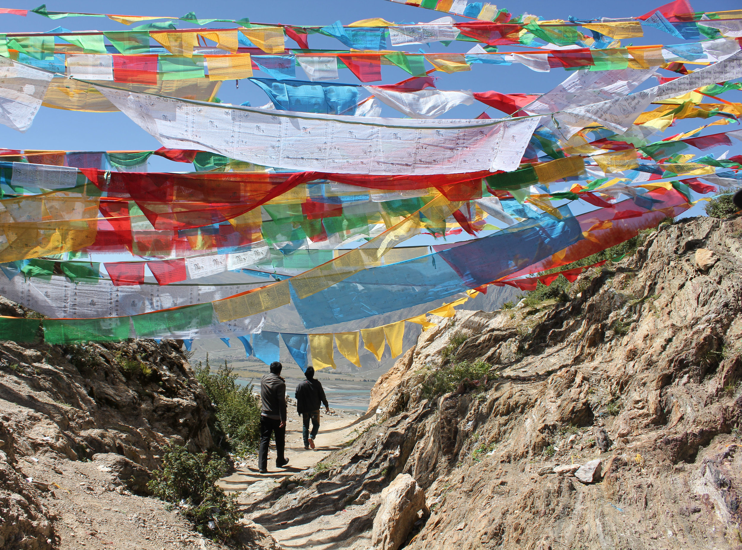 Exploring a Tibetan mountain range