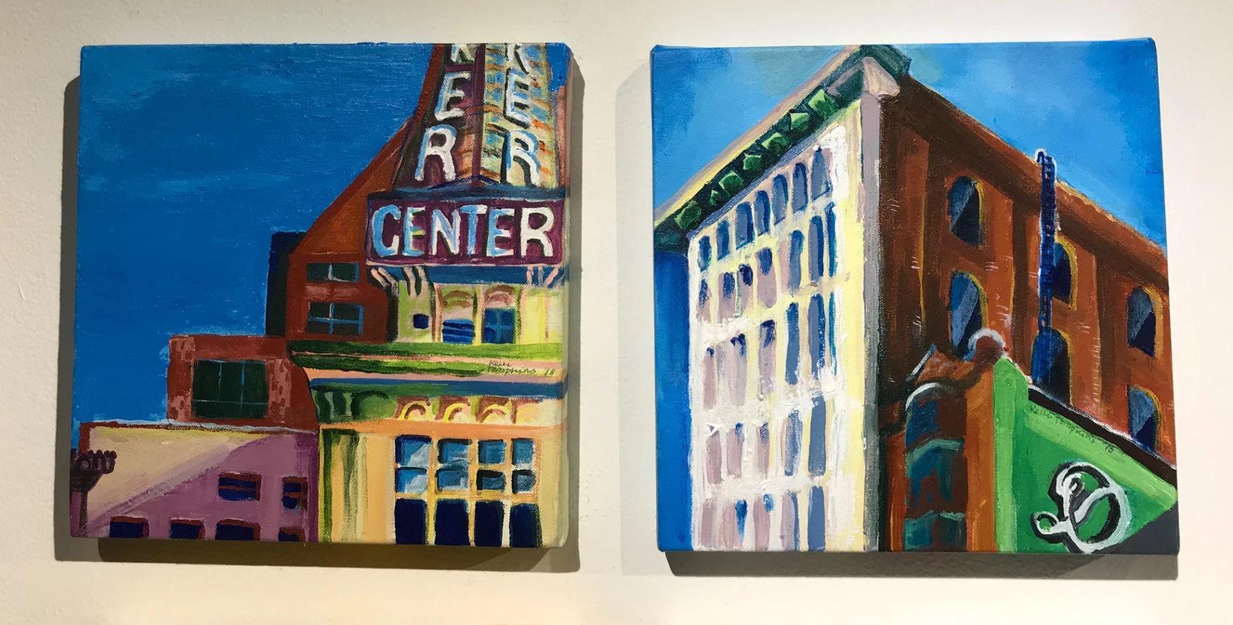 urban plein air pieces, 2018