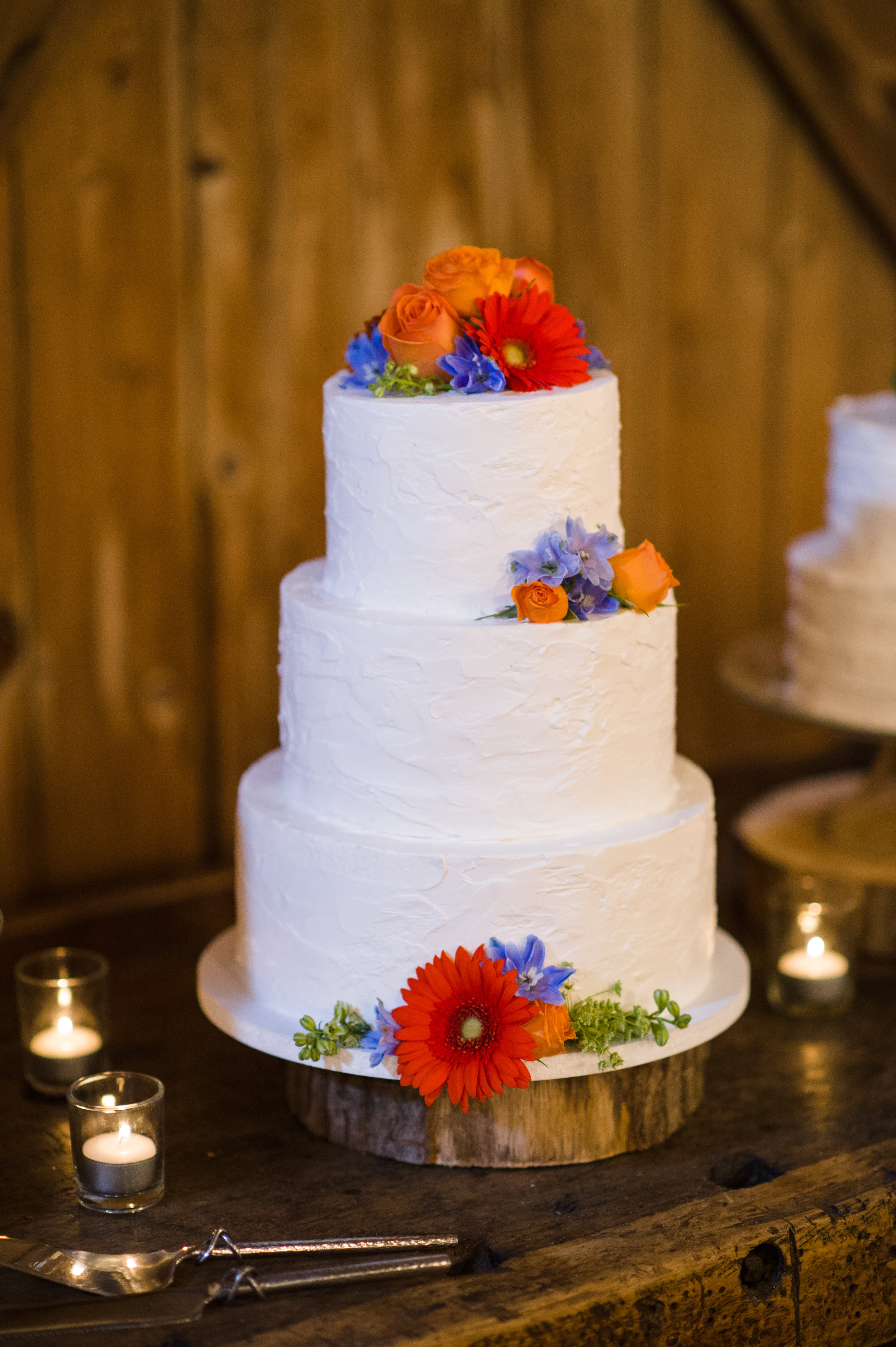 Cake with Flowers (Photo Credit: Michael Will Photography)