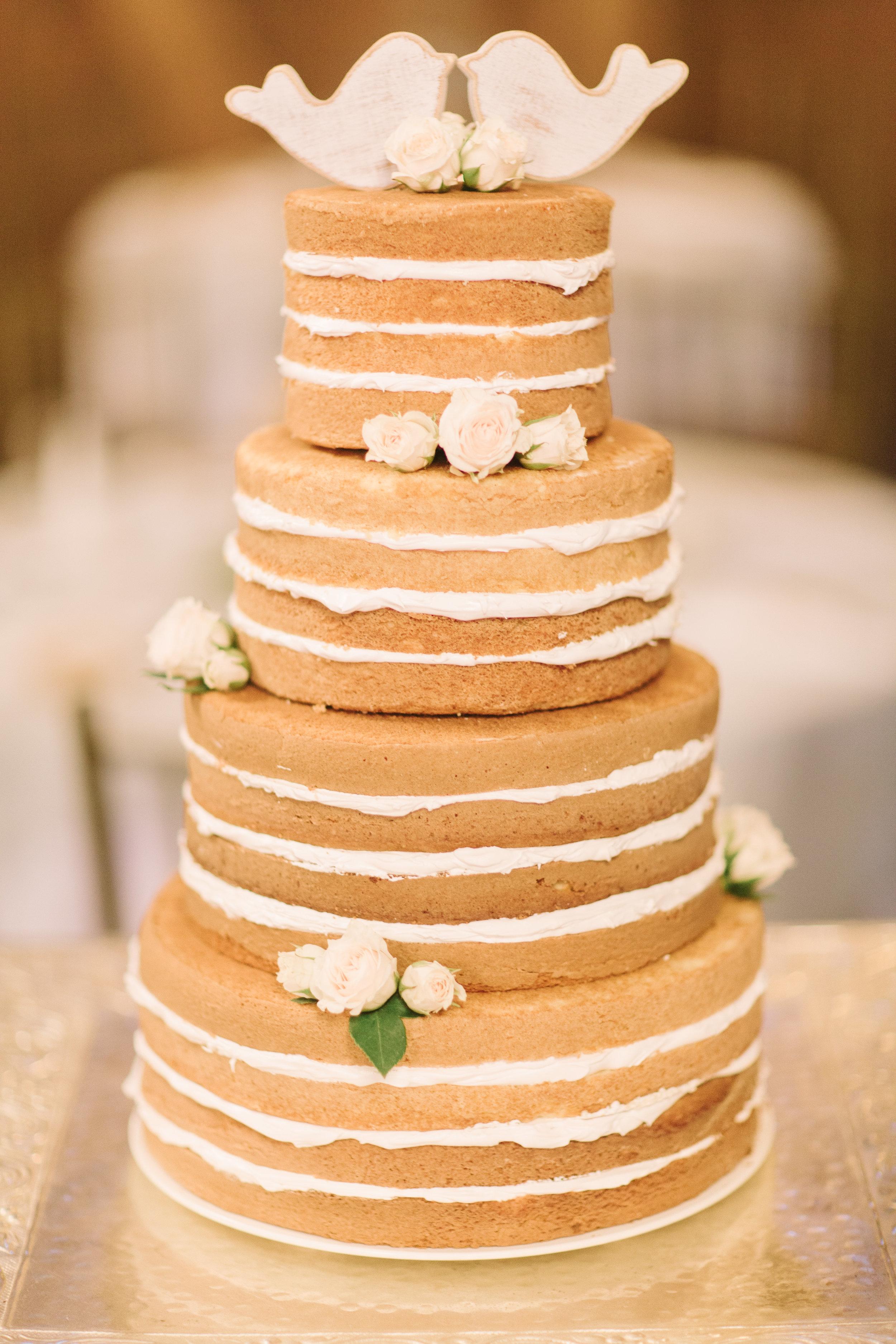 Naked Wedding Cake (Photo Credit: Derek+Diane)