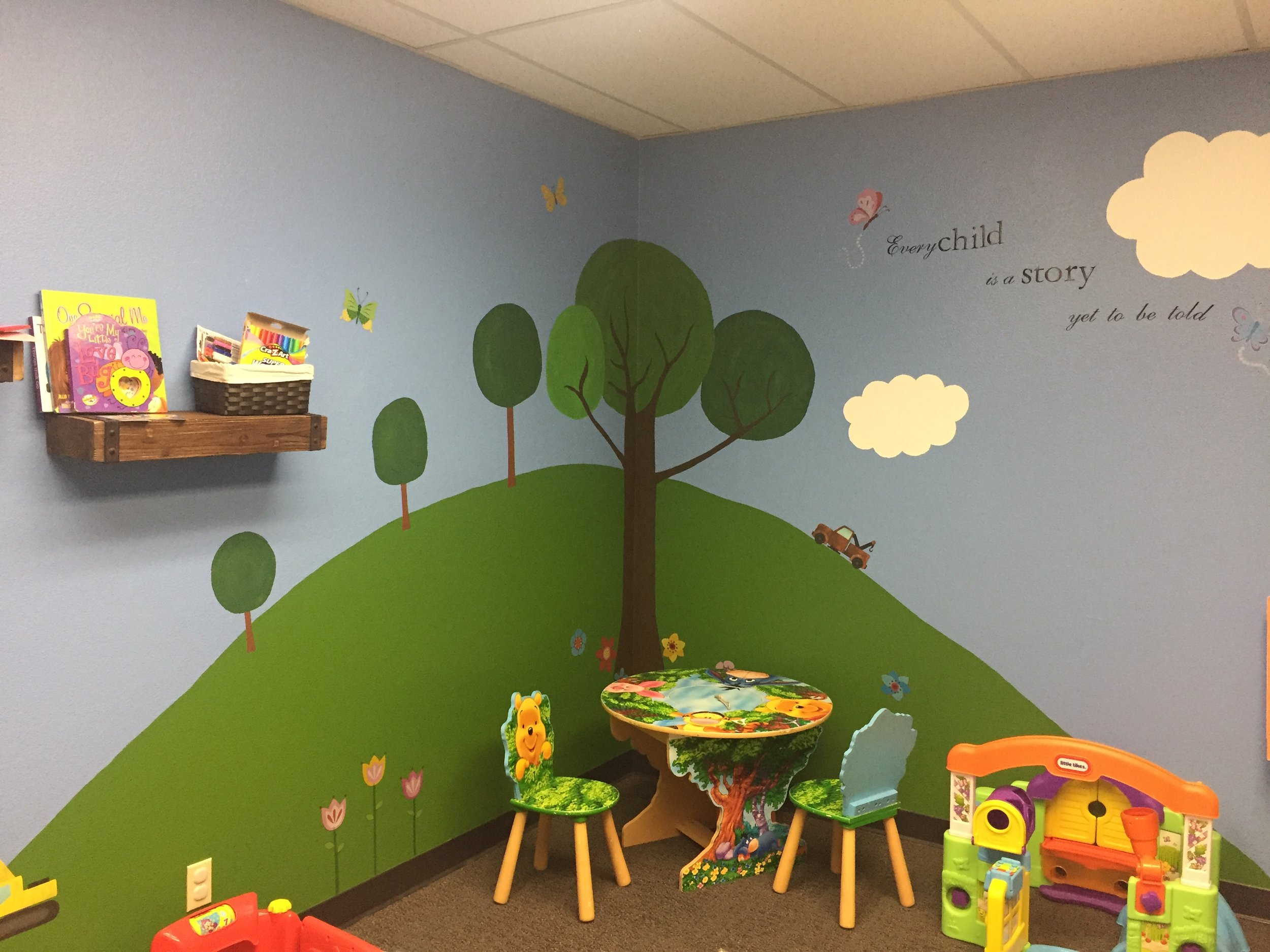 The Nursery - Our nursery team combines a love of God with creativity to help your child have fun in an inviting park themed atmosphere.