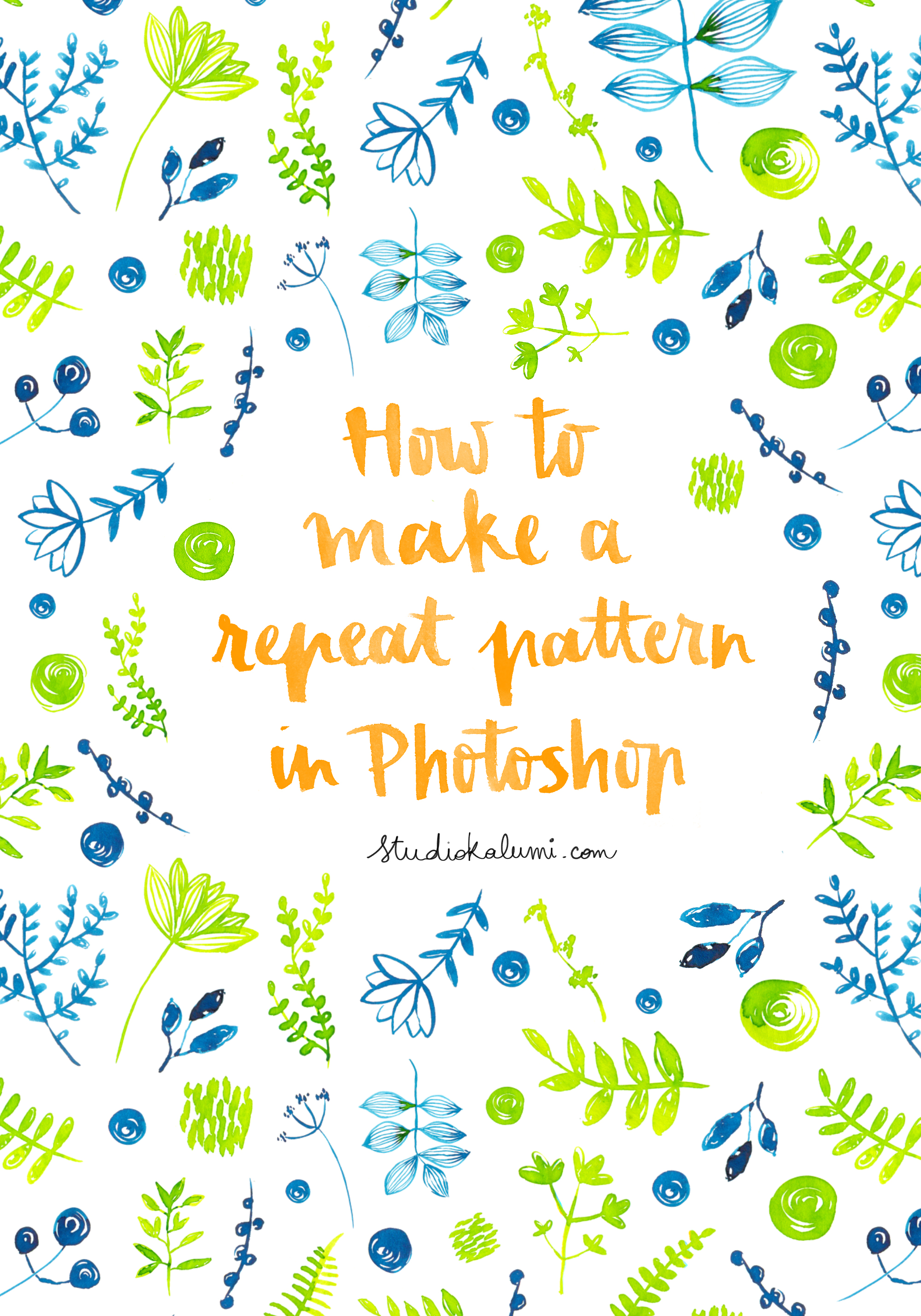 how to make a repeat pattern in Photoshop