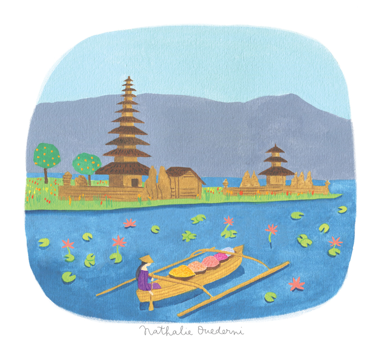 Indonesia/Bali Illustration